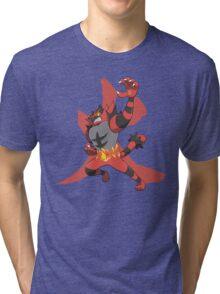 Incineroar With Fire kanji Tri-blend T-Shirt