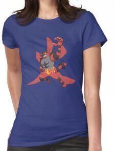 Incineroar With Fire kanji Womens Fitted T-Shirt