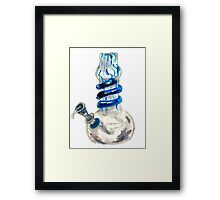 watercolor waterpipe Framed Print