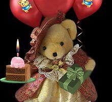 ㋡ HAPPY BIRTHDAY TEDDY BEAR BEARING GIFTS CARD/PICTURE  ㋡ by ✿✿ Bonita ✿✿ ђєℓℓσ