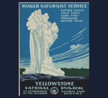Vintage poster - Yellowstone National Park One Piece - Short Sleeve