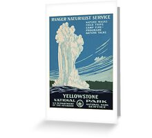 Vintage poster - Yellowstone National Park Greeting Card