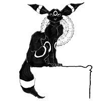 umbreon blanc et noir Photographic Print