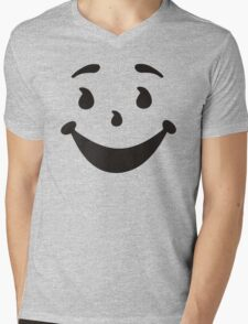KOOL MAN AID FACE TShirt Oh Yeah 90s Retro Tee Shirt Cool Funny Smiley Yea Drink Mens V-Neck T-Shirt