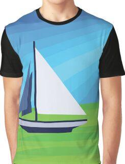 Green Sea Sailing Graphic T-Shirt