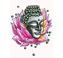 Decap Lotus Buddha (Rerelease) Photographic Print