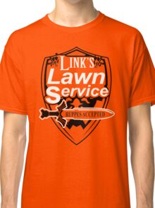 Link's Lawn Service T Shirt Gaming Retro Funny Zelda Tee Game Ocarina nice boy Classic T-Shirt