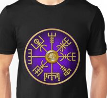 Norse Vegvisir Viking Compass - Purple Unisex T-Shirt