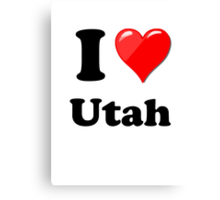 I Love Utah Canvas Print