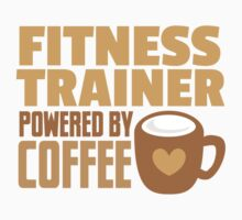 Fitness trainer powered by coffee Kids Tee