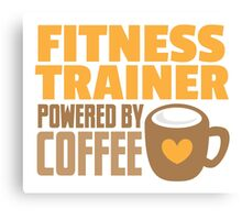 Fitness trainer powered by coffee Canvas Print
