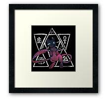 dark ancient mew (lineless) Framed Print
