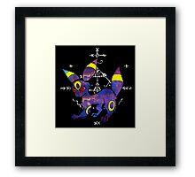 occult umbreon (lineless) Framed Print