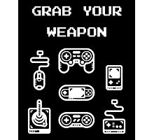 Classic / Old-School Video Game Controllers - Grab your Weapon Photographic Print