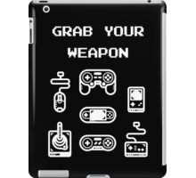Classic / Old-School Video Game Controllers - Grab your Weapon iPad Case/Skin
