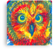 primary color owl Canvas Print
