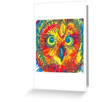 primary color owl Greeting Card