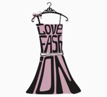 Silhouette of  woman dress from words I love Fashion Kids Clothes
