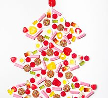 Christmas tree made of lollies candy by Jodie Johnson