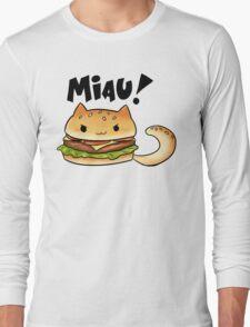Cats Food - cheeseburger cat Long Sleeve T-Shirt