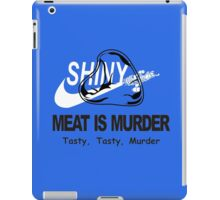 Meat Is Murder Tasty Tasty Murder T-Shirt Funny BBQ Food TEE Cooking Bacon iPad Case/Skin