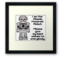 Best Wishes From Atomic Powered Toy Robot Framed Print