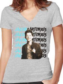 JACOB SARTORIUS Women's Fitted V-Neck T-Shirt