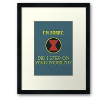Black Widow Quote Simple Framed Print