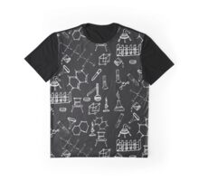 Chemical lab equipment scribbles Graphic T-Shirt