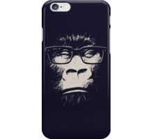 Hipster Gorilla With Glasses iPhone Case/Skin