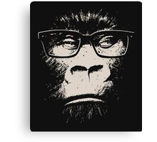 Hipster Gorilla With Glasses Canvas Print