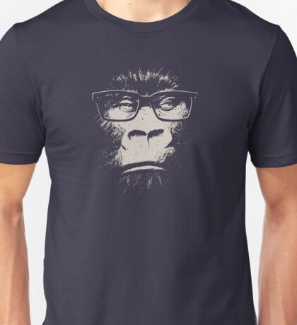 Hipster Gorilla With Glasses Unisex T-Shirt