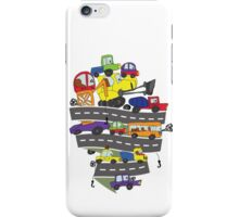 Child's hand draw cars.Funny Doodle iPhone Case/Skin