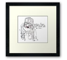 dear people on public transit, (transparent background) Framed Print