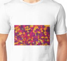 orange yellow pink and purple circle abstract background Unisex T-Shirt