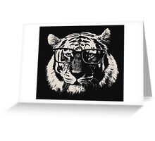 Hipster Tiger With Glasses Greeting Card