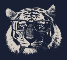 Hipster Tiger With Glasses by TheShirtYurt