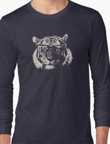 Hipster Tiger With Glasses Long Sleeve T-Shirt