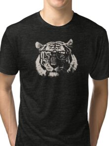 Hipster Tiger With Glasses Tri-blend T-Shirt