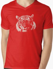 Hipster Tiger With Glasses Mens V-Neck T-Shirt