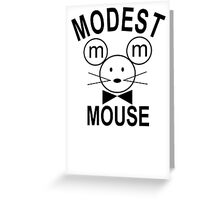 Modest Mouse Rock Band Black Hooded Sweatshirt Sz S M L XL Greeting Card