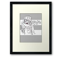dear people on public transit, (white background) Framed Print