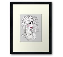 altitudinarian (white background) Framed Print