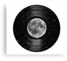 Moon In Space Vinyl LP Record Canvas Print