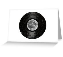 Moon In Space Vinyl LP Record Greeting Card