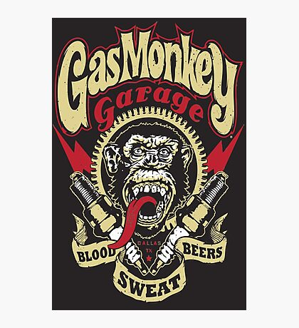 GASMONKEY GARAGE Photographic Print