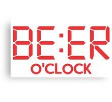 Beer O'Clock - Clock Canvas Print