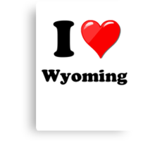 I Love Wyoming Canvas Print