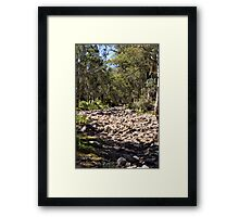 Dry Creek Bed Framed Print