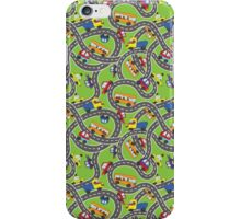 Doodle cars on road.Сhild's drawing iPhone Case/Skin